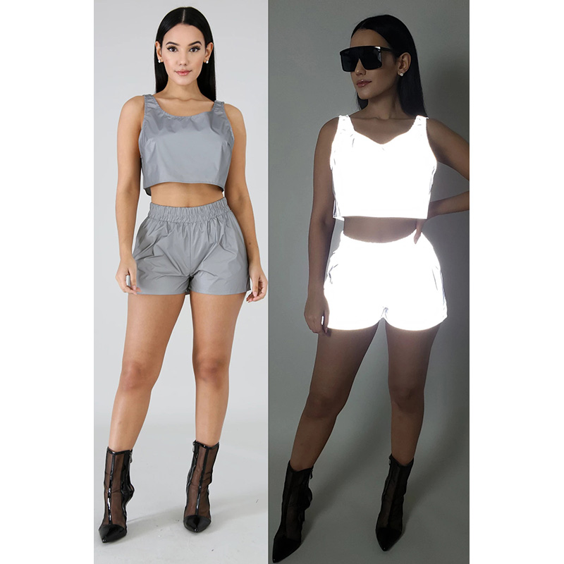 Women/'s Casual Short Sleeve Crop Top and Short Pants Two Piece Tracksuit Set