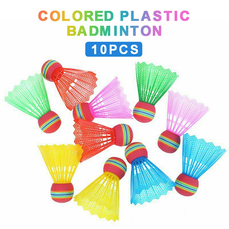 10PCS Badminton Ball Colorful Plastic Ball Gym For Home Equipment Exercise Shuttlecocks Sport Training Outdoor