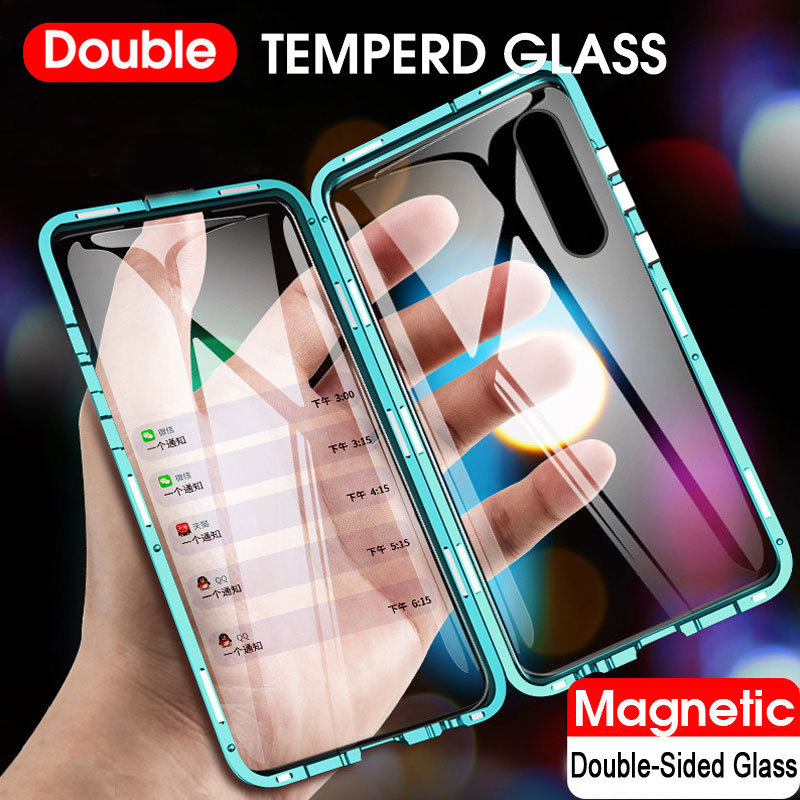Чехол Realme 6 двухсторонний Магнитный 360 полностью защищающий чехол s чехол для Realme6 Realme 6 pro закаленное стекло чехол etui Специальные чехлы      АлиЭкспресс