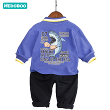 Medoboo Baby Shark Clothing Girl Boy Clothes Set Shelter Childrens Sweatshirts Coat +Pants Newborn Coats Jacket