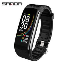 Sanda Top Brand New C6t Smart Watch Sports Monitoring Body Temperature Bracelet Multi-Function Reminder Sport