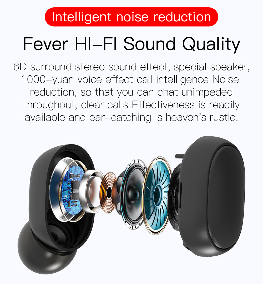 Bluetooth 5.0 Headset LED Mini Wireless Earbuds Kopfhörer Stereo-Kopfhörer DE