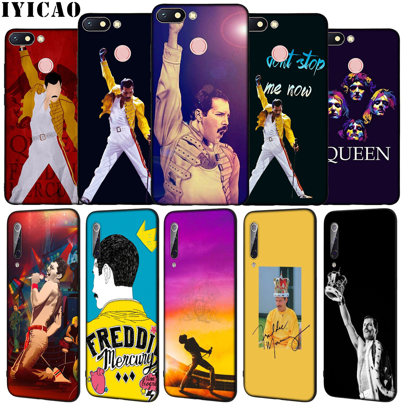 IYICAO Queen Freddie Mercury Hot Soft Silicone Phone Case For Xiaomi Redmi 8A 7A 6A 5A K20 S2 4A 4X Note 8 7 6 Pro 5 Plus Cover