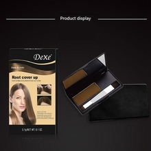Natural Hair Coloring Products Cover Gray Root Up Powder Black Color Brush Dye Temporary Cream