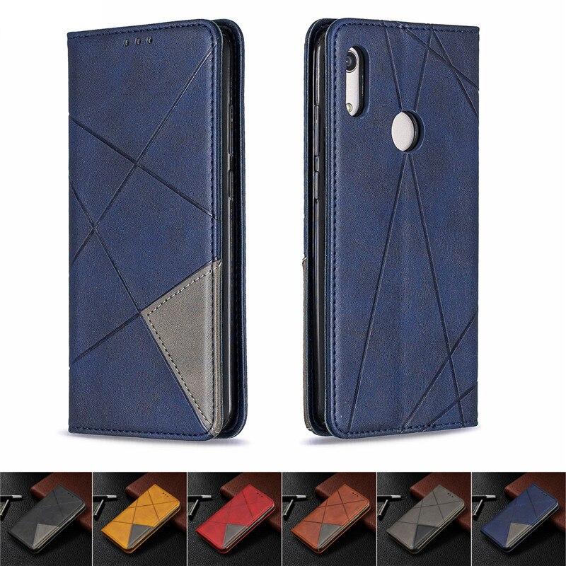 Do Samsung Galaxy A30s przypadku magnetyczne skórzane cienkie etui na Samsung A30 A305F a 30 A30S A307F etui z podstawką biznes telefon okładka