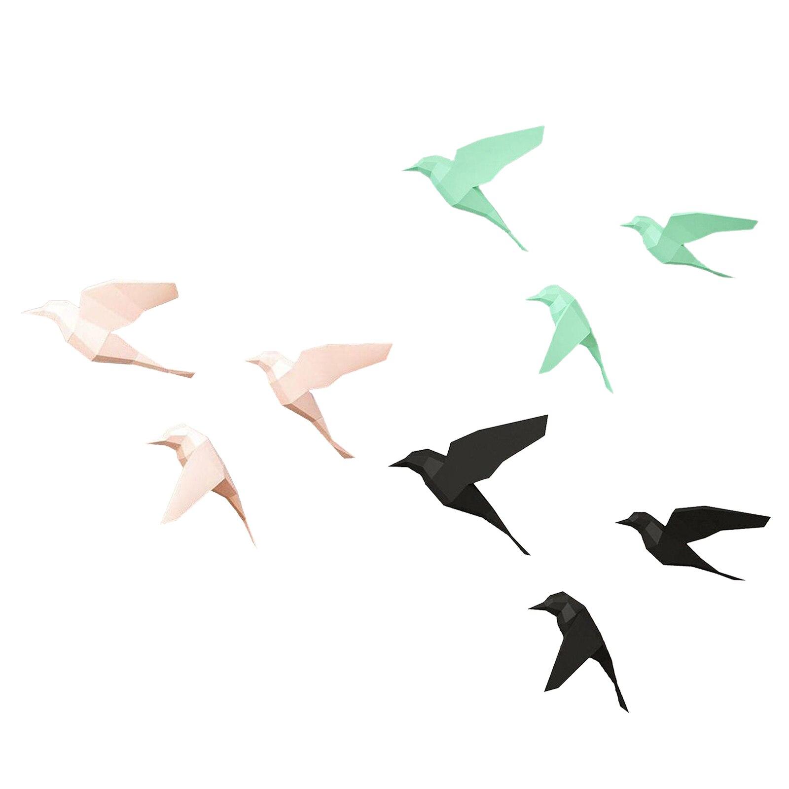 1Set 3D Paper Model  Papercraft Home Decor Wall Decoration Bird Puzzles Educational DIY Kids Toys Gift