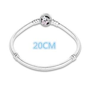 Image 5 - 100% 925 Sterling Zilver Enamel Bloem Charm Ketting Fit Originele Armband Voor Vrouwen Authentieke Diy Sieraden Berloque Gift