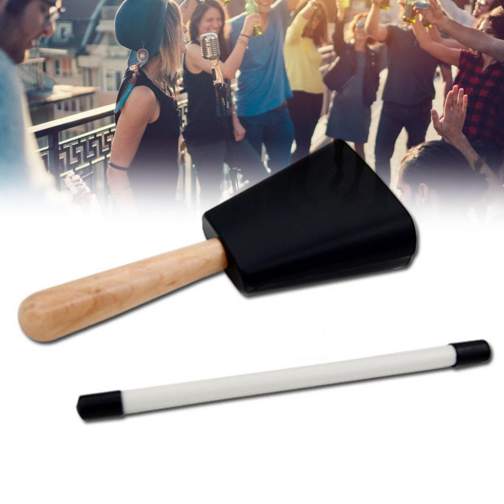 Cowbell With Handle Cheering Bell For Sports Events Chimes Percussion Musical Instruments For Sporting Events Weddings Vparties