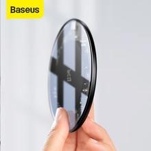 Baseus 15W צ י אלחוטי מטען עבור iPhone XS XR XS מקסימום X 8 שקוף זכוכית אלחוטי טעינת Pad עבור סמסונג גלקסי S10 S9 S8