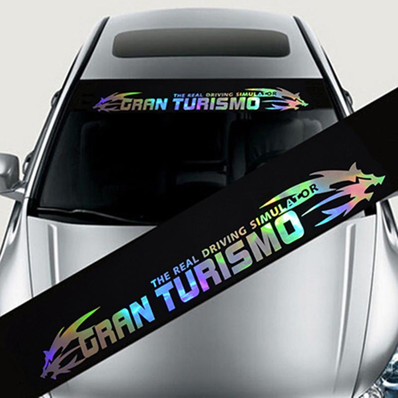 Studyset Colorful Reflective Decoration Decals Car Stickers Styling Front Windshield Decal Sticker