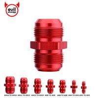 Adaptador de encaixe de extremidade de mangueira de óleo vermelho de energia do mal macho reto a um adaptador de união de alargamento nitroso an3 an4 an6 an8 an10 an12 an16|Tratamento e abastecimento de combustível|Automóveis e motos -