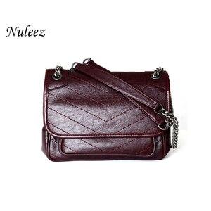 Image 1 - Genuine real leather cowhide handbag women fashion Y popular for ladies 2019 muti use shoulder bag