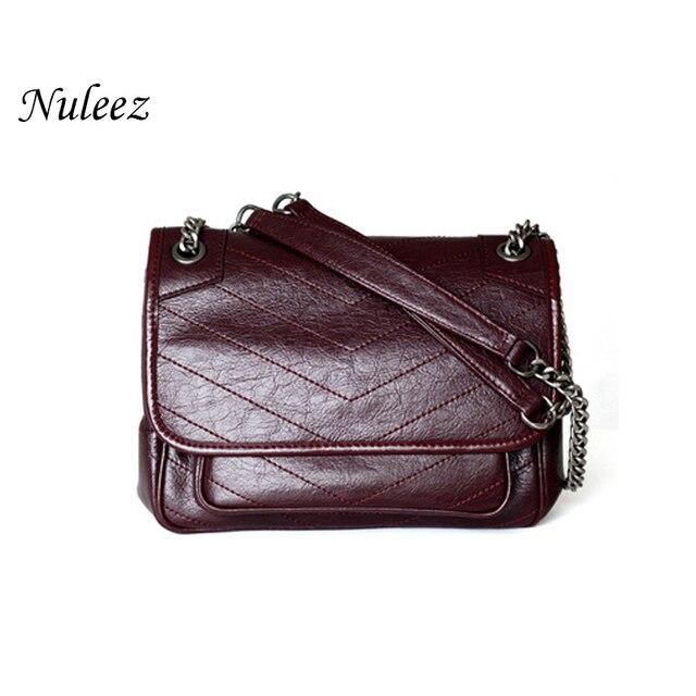 Genuine real leather cowhide handbag women fashion Y popular for ladies 2019 muti use shoulder bag