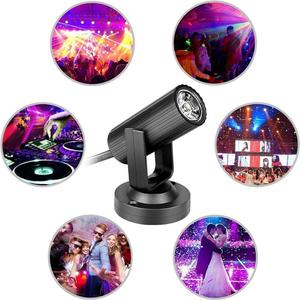 3W RGB LED Stage Lights For Christmas Home KTV Xmas Party Wedding Show PubSound Activated Disco Lights Rotating Ball Lights