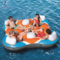 Marine chaise lounge inflatable water floating row relax water floating bed swimming bed floating chair