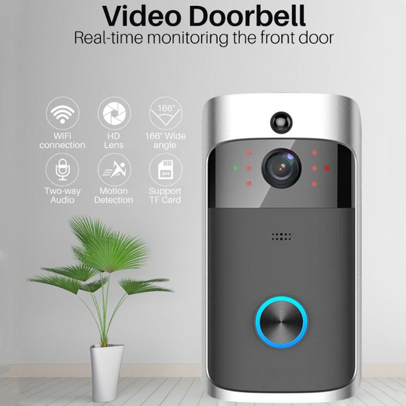 1080P WiFi Video Doorbell Tuya Smart Doorbell Security Camera With PIR Motion Detect Twoway Intercom Support Alexa Google