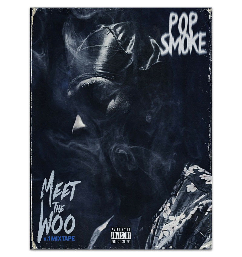 mt1555 pop smoke meet the woo 12 cover poster hip hop painting art poster print canvas home decor picture wall print