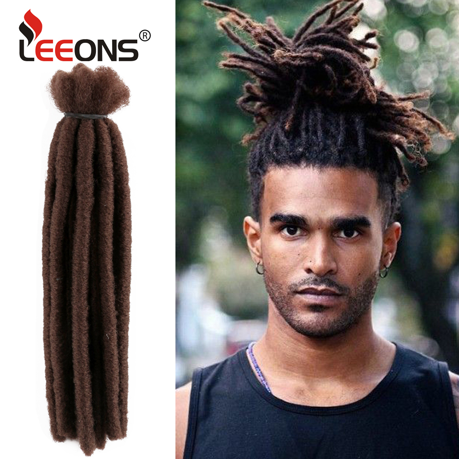 Leeons Natural Dreadlocks Extentions Synthetic Crochet Braid Hair Wool Dreads Green Braiding Hair Afro Dreadlocks Men 6/10/20