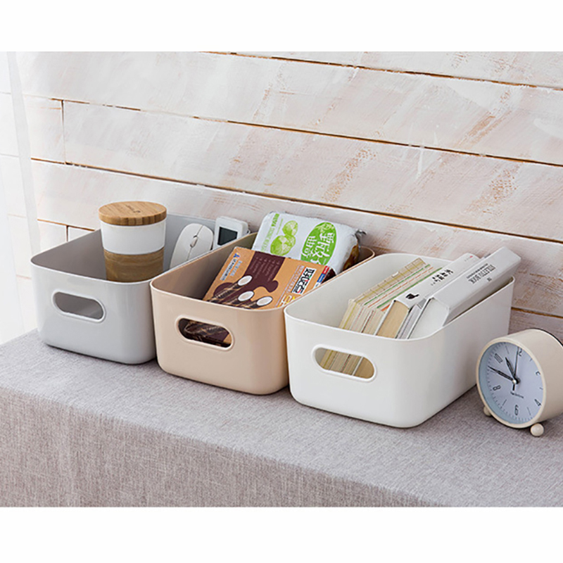 Sundry Storage Basket Box Student Desktop Snack Plastic Cosmetic Household Kitchen Sorting Makeup Home Ins Tity Bathroom 3 SIZES
