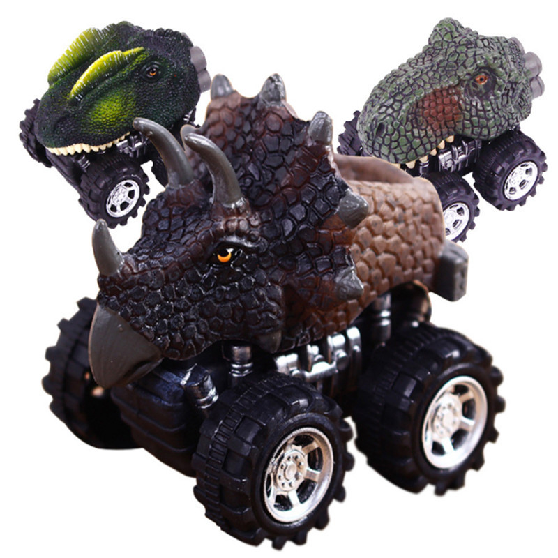 Makinë për fëmijë tërheq lodër makine dinosauri me rrota të - Makina lodër për fëmije - Foto 6