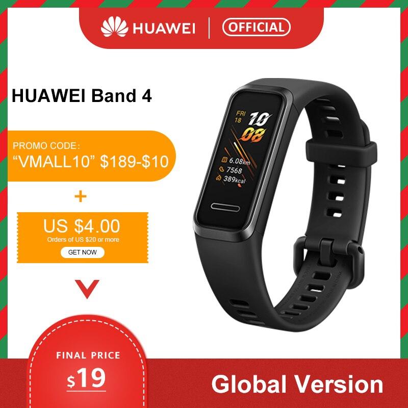 Global version Huawei Band 4 Smart Wristband 0.95'' Color USB-inside AMOLED Screen Heart Rate tracking health Sleep Snap