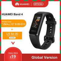 Globale version Huawei Band 4 Smart Armband 0,95 ''Farbe USB-innen AMOLED Bildschirm Herz Rate tracking gesundheit Schlaf snap