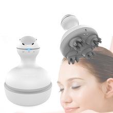2019 nowy 3D wodoodporny elektryczny masażer do głowy bezprzewodowy masaż głowy promuj wzrost włosów ciało głębokie tkanki ugniatanie wibracyjne tanie tanio Other Małe BODY BSD-TP005 Wireless head massager USB charging white ABS+silicone 2 speeds Vibrating 140*120*150mm 400g