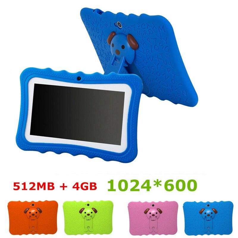 Tableta para niños de 7 pulgadas, cámara doble, Android, WiFi, juego educativo, regalo para niños y niñas, enchufe de EE. UU.