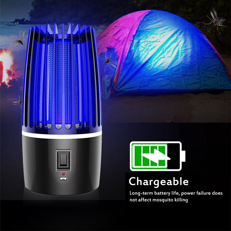 2020 Rechargeable USB Anti-mosquito Lamp Kills Insects LED Insecticide Pest Repeller Camping Light Mosquito Killer Lamp