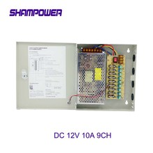 цена на 9 Channels DC 12V 10A 9CH Channel Switch  Power Supply Box for CCTV Camera Security Surveillance - CCTV Security Accessories