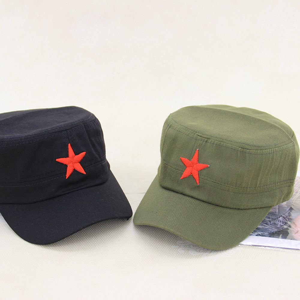 Hat Cap Army-Hat Communist Mao New China Red Outdoor Cotton Tactical-Cap Flat-Top Star-Pattern title=