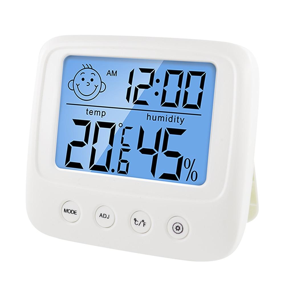Digital lcd interno conveniente sensor de temperatura medidor de umidade termômetro higrômetro calibre