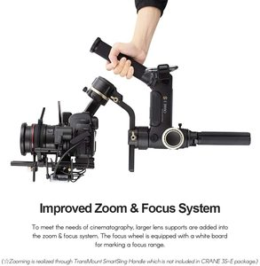 Image 2 - Zhiyun Crane 3S 3 Axis Handheld Gimbal Stabilizer for DSLR Cameras and Camcorder, 6.5kg Payload, Extendable Roll Axis
