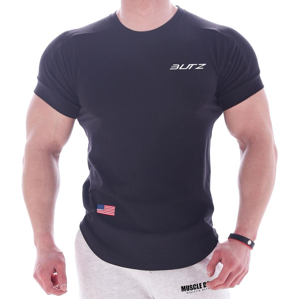 Men Workout Athletic Short Sleeve T Shirt Fitness Training Fit Dry T Shirts