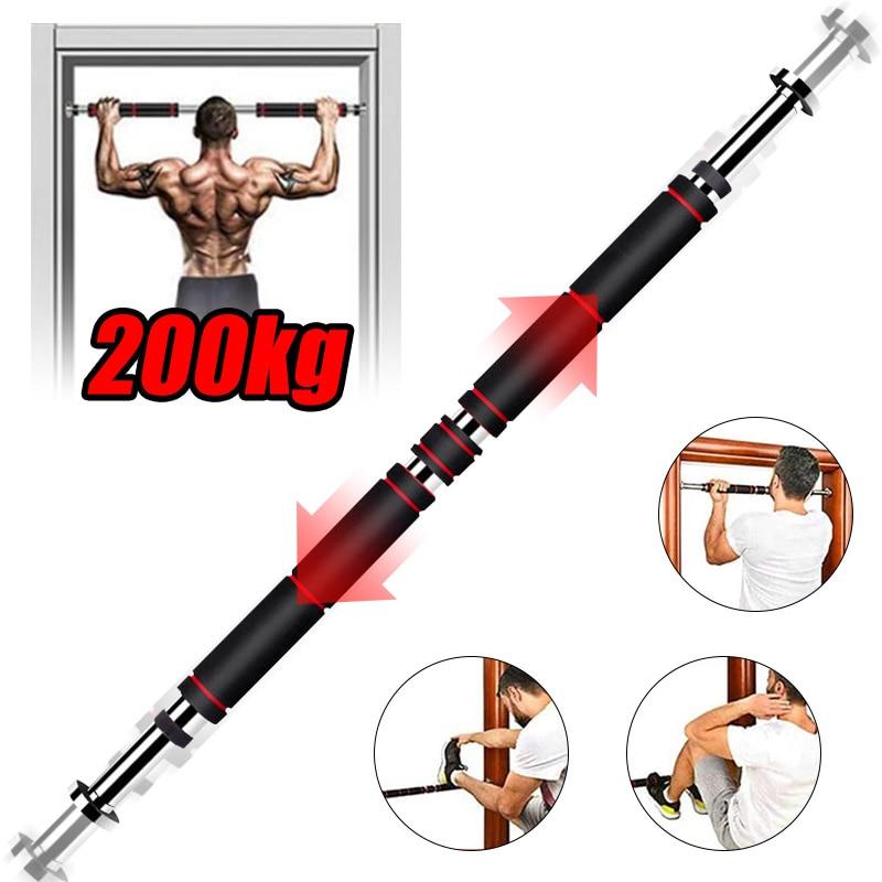 200kg drzwi poziome bary 60-100cm stal regulowany trening dla domowa siłownia trening Sport Fitness турник Pull Up Bar sprzęt