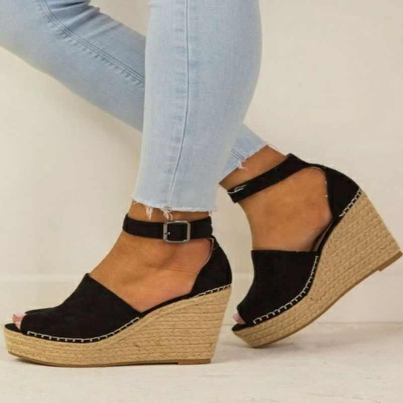 Plattform Sandalen Keile Schuhe Für Frauen Heels Alias Mujer Sommer Schuhe Frauen Espadrilles Frauen Sandalen 2020