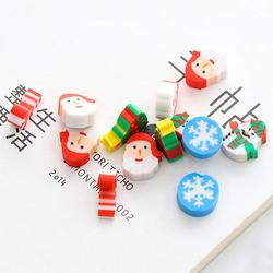 20PCS Christmas Gifts Santa Claus Snowman Eraser Transparent Packaging Ballpoint Pen Writing Eraser Children's Christmas Gift 2