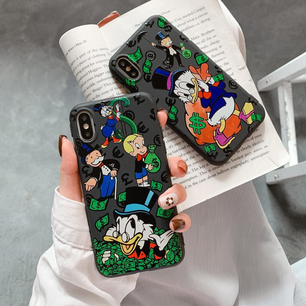 <font><b>Kawaii</b></font> soft silicone Luxury <font><b>Phone</b></font> <font><b>Case</b></font> Monopoly for <font><b>iphone</b></font> 11 Pro Max X XS Max XR 6 6S <font><b>7</b></font> 8 Plus cute Couples <font><b>phone</b></font> <font><b>case</b></font> cover image