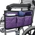 Подлокотник для инвалидной коляски, Боковая Сумка для хранения, портативный карман, подходит для большинства прогулочных колес и аксессуар...