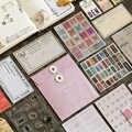 46 ピース/セットレトロ紙ステッカーシリコーンシールメモ帳セット和紙テープ DIY ステッカーマスキングテープギフト文具