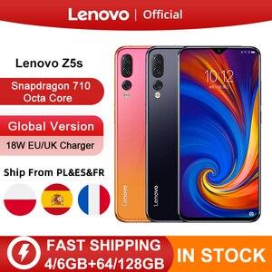 Lenovo Z5s Snapdragon 710 Восьмиядерный 4 Гб 64 Гб мобильный телефон Лицо ID 6,3 дюймов Android P тройной задней камеры смартфон