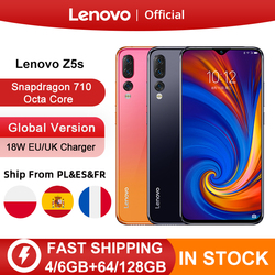 Перейти на Алиэкспресс и купить global version lenovo z5s z5 s smartphone snapdragon 710 octa core face id 6.3inch android p triple rear camera smartphone