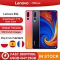 Globale Version Lenovo Z5s Z5 S Smartphone Snapdragon 710 Octa Core Gesicht ID 6,3 zoll Android P Triple Hinten Kamera smartphone