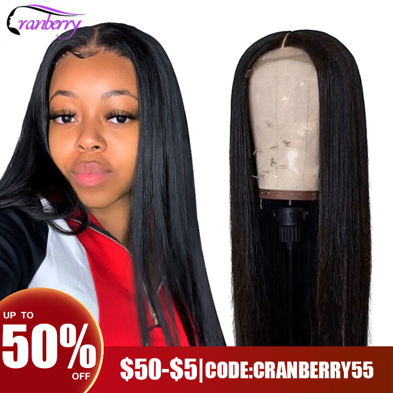 CRANBERRY HAIR Straight Lace Front Wig Remy 360 Lace Frontal Wig 13X6 Malaysian 150% Density Straight Lace Front Human Hair Wigs