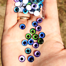 glass eyes cabochons Round 6MM-30MM Round Dome Dragon Eye Dragon Cat Eye Toys DIY Jewelry Accessory MIX Pupil Eye Cameo
