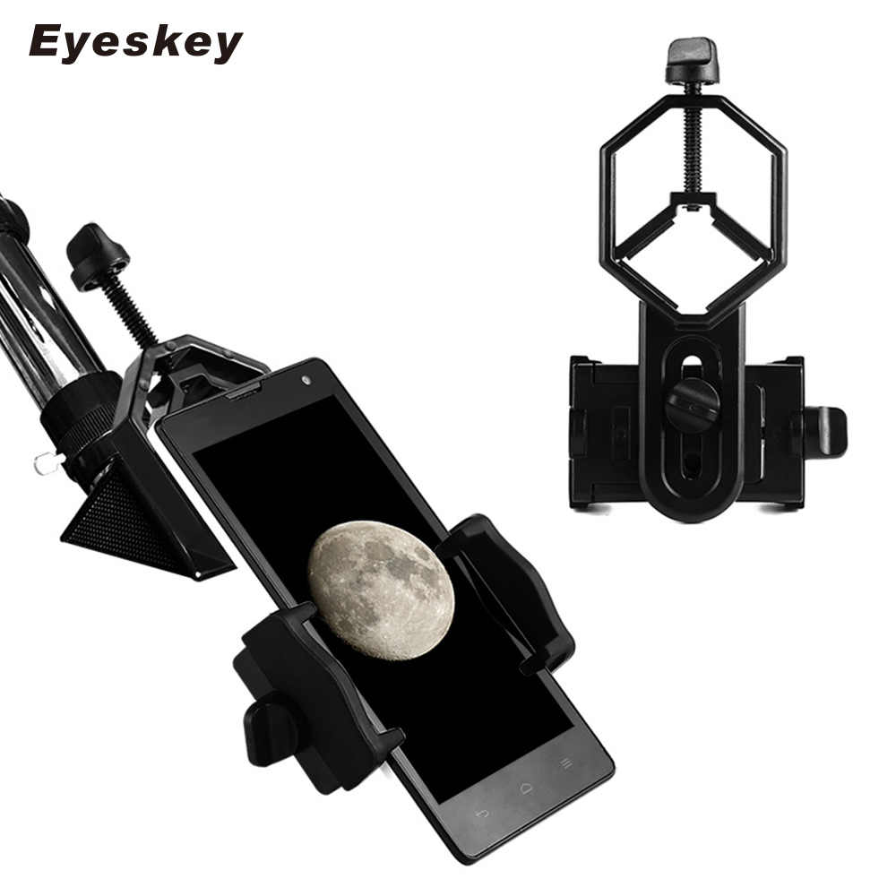 Qiterr Telescope Mounting Adapter Phone Holder Metal Adjustable Mobile Phone Clip Holder Adapter Mount for Monocular Telescope Microscope