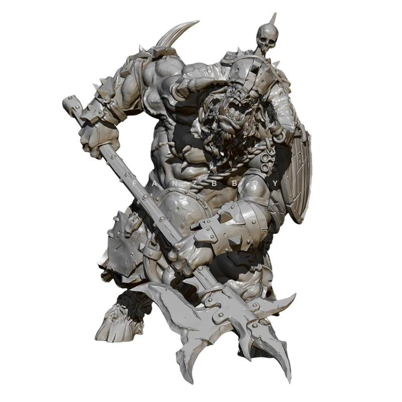 <font><b>1/24</b></font> <font><b>75mm</b></font> Self-assembled <font><b>Resin</b></font> Soldier <font><b>Model</b></font> Tauren Warrior <font><b>Resin</b></font> Soldier White <font><b>Model</b></font> Ornament <font><b>Resin</b></font> Figure <font><b>Model</b></font> <font><b>Kits</b></font> TD-2177 image