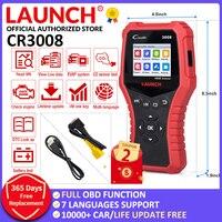 LAUNCH-herramienta de diagnóstico Creader 3008 para coche, escáner lector de código OBD2, compatible con obd2 +, control de batería, CR3008, OBDII, actualización gratuita
