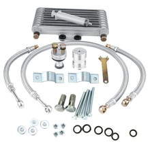 Radiator-Kit Engine-Oil-Cooler Cooling Motorcycle Aluminum Honda for CB CG 125ml Silver