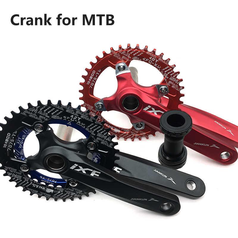 Bicycle Crankset Integrated Single Chainring Crankset Crank 32T//36T//38T//40T//42T